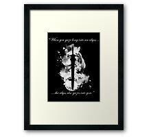 Artorias of the Abyss (White) Framed Print