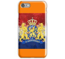 Dutch flag with national weapon iPhone Case/Skin