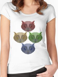 All of the Owls! Women's Fitted Scoop T-Shirt