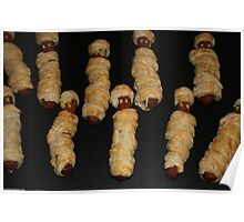 Halloween horrid sausage mummies Poster