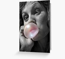 The Original Outrageous Hubba Bubba Girl Greeting Card