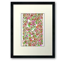 delicate ethnic pattern Framed Print