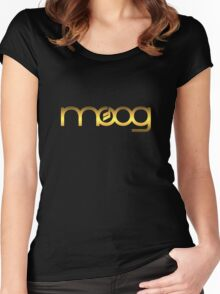 Golden Vintage Moog Synth Women's Fitted Scoop T-Shirt