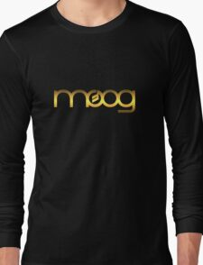 Golden Vintage Moog Synth Long Sleeve T-Shirt