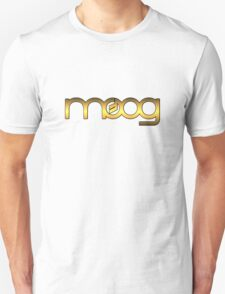 Golden Vintage Moog Synth Unisex T-Shirt