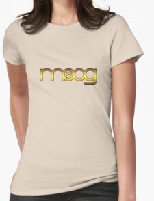 Golden Vintage Moog Synth Womens Fitted T-Shirt