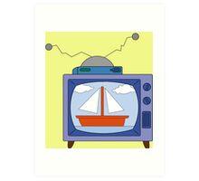 simpsons tv Art Print