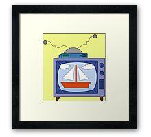 simpsons tv Framed Print