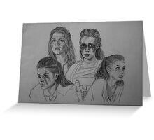 CW  The 100 - Clarke Griffin, Octavia Blake, Commander Lexa, Raven Reyes. Greeting Card