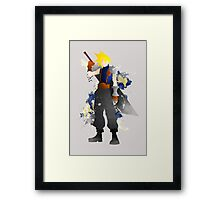 Final Fantasy 7: Cloud Strife Giclee Art Print Framed Print