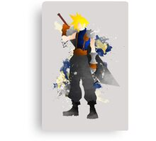 Final Fantasy 7: Cloud Strife Giclee Art Print Canvas Print