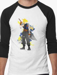 Final Fantasy 7: Cloud Strife Giclee Art Print Men's Baseball ¾ T-Shirt