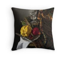 Quince and Pomegranate Throw Pillow