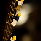 The First Legos to reach the top of Mt. Guitarist by laruecherie