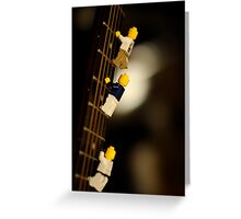 The First Legos to reach the top of Mt. Guitarist Greeting Card