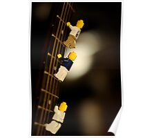The First Legos to reach the top of Mt. Guitarist Poster