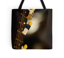 The First Legos to reach the top of Mt. Guitarist Tote Bag