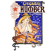 Humber Cycles 1890s Vintage Advertising Poster Photographic Print