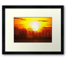 The sun never sleep Framed Print