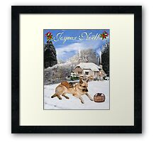 French German Shepherd Holiday Framed Print