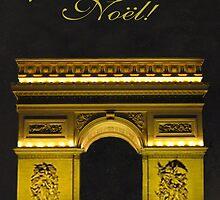 Arc de Triomphe Paris Christmas by Eric Kempson