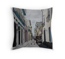 Havana, Cuba  street scene Throw Pillow