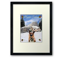 Finish Holiday German Shepherd and puppy Framed Print