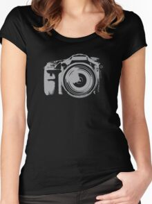 Fast Shooting Camera Women's Fitted Scoop T-Shirt