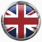 United Kingdom Round Flag by 3Dflags