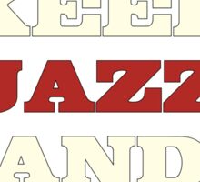 Keep Jazz And Swing On Sticker