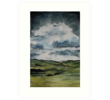 Stormy sky over Bowland 2 Art Print
