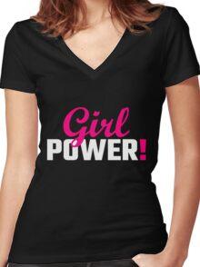 Girl Power! Women's Fitted V-Neck T-Shirt