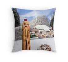 Scream Christmas Russia Throw Pillow