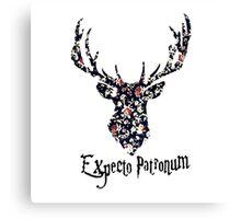 Expecto patronum floral Canvas Print