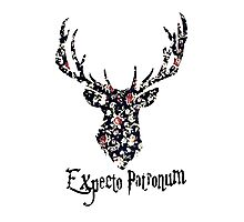 Expecto patronum floral Photographic Print