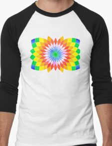 Rising Rainbow Star Men's Baseball ¾ T-Shirt