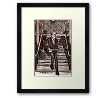 Jamming out Framed Print