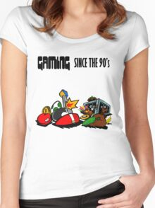 Gaming Since the 90's Women's Fitted Scoop T-Shirt