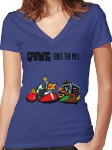 Gaming Since the 90's Women's Fitted V-Neck T-Shirt