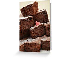"""Mayonnaise Chocolate brownies ... """"Mayonnaise""""??? Greeting Card"""