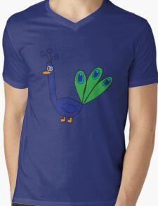blue peacock Mens V-Neck T-Shirt