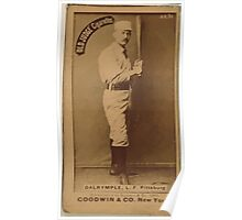 Benjamin K Edwards Collection Abner Dalrymple Pittsburgh Alleghenys baseball card portrait 001 Poster