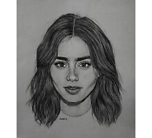 Lily Collins. Photographic Print