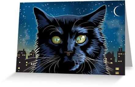 Black Cat by Debbie Jew