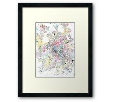 Birmingham map splash painting Framed Print