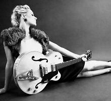 Girl with guitar by Steven Shingler