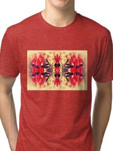 Sturt's Red Desert Pea on Gold Tri-blend T-Shirt