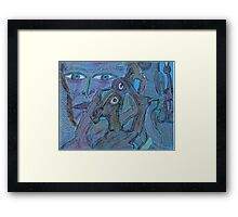 coal tar patch membrane Framed Print