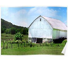 White Barn in Hocking Hills  Poster