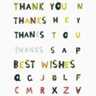 Thank you stickers + Alphabet by Anastasiia Kucherenko